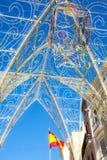 Malaga christmas lights Stock Photography