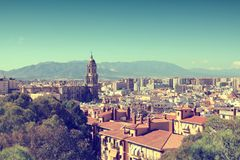 Malaga city Royalty Free Stock Photography