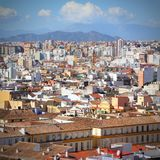 Malaga city Stock Photography