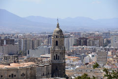 Malaga City with Cathedral Stock Images