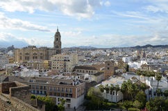 Malaga city center (Spain). General view of the Malaga city center (Spain Royalty Free Stock Image