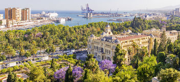 Malaga City Central Park Spain Royalty Free Stock Images