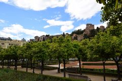 Malaga. City centre in Malaga, Andalusia, Spain stock photo