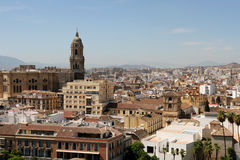 Malaga city overview Stock Photography