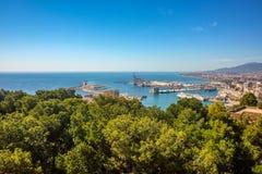 Malaga city panoramic view, Andalusia, Spain Stock Image