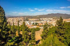 Malaga city panoramic view, Andalusia, Spain Royalty Free Stock Photo