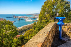 Malaga city panoramic view, Andalusia, Spain Royalty Free Stock Image