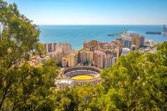 Malaga city panoramic view, Andalusia, Spain Stock Photo