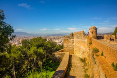 Malaga city panoramic view, Andalusia, Spain Stock Photos