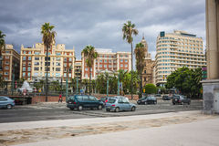 Malaga city Stock Image
