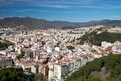 Malaga City Skyline, Spain Royalty Free Stock Photo