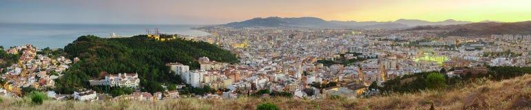 Malaga City Skyline Spain Stock Photography