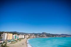 Malaga city, Spain. Beautiful view of Malaga city, Spain Royalty Free Stock Image