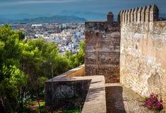 Malaga cityscape Arkivfoton