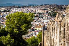 Malaga cityscape Royaltyfria Bilder