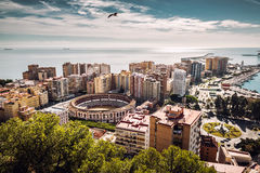 Malaga cityscape Stock Photos