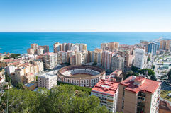 Malaga cityscape Stock Images