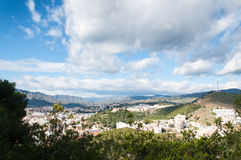 Malaga cityscape from the top of hill Gibralfaro Royalty Free Stock Photography