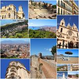 Malaga collage Royaltyfri Foto
