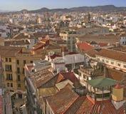 malaga dachy Hiszpanii Zdjęcia Royalty Free