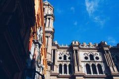 Malaga domkyrka Spanien Arkivbilder