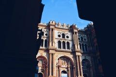Malaga domkyrka Spanien Arkivfoto