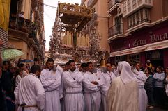 Malaga eastern procession Stock Image