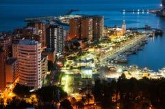 Malaga Espagne Vue aérienne des immeubles et des hôtels photos stock