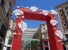 Malaga Feria portal Obrazy Royalty Free