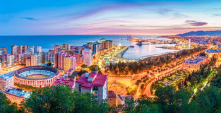 Malaga From The Skies Royalty Free Stock Images