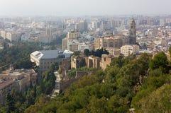 Malaga from Gibralfaro Hill Stock Photo