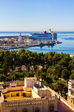 Malaga harbor, Andalusia, Spain Stock Photo