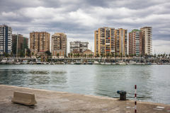 Malaga Harbor Stock Photography
