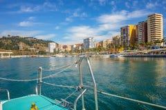Malaga harbor. Malaga, andalusia, Spain Royalty Free Stock Image