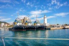 Malaga harbor. Malaga, andalusia, Spain Royalty Free Stock Photos