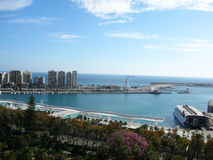 Malaga Harbour Royalty Free Stock Images