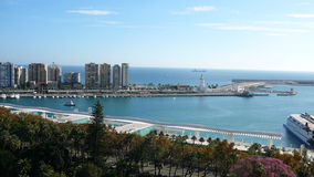 Malaga Harbour Royalty Free Stock Photography