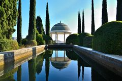 Malaga Historic Park Royalty Free Stock Photo