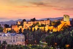 Malaga Hiszpania Alcazaba fotografia royalty free