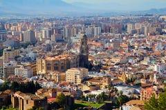 Malaga (Hiszpania) katedra Fotografia Royalty Free