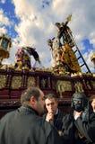 MALAGA HISZPANIA, KWIECIEŃ, - 09: tradycyjni korowody Święty tydzień ja Obraz Royalty Free