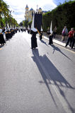 MALAGA HISZPANIA, KWIECIEŃ, - 09: tradycyjni korowody Święty tydzień ja Obrazy Stock