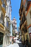 Malaga Hiszpania, Lipiec, - 2014 obraz royalty free