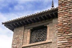 Malaga, Hiszpania, Luty 2019 Forteca Alcazaba jest Arabskim fortyfikacją na górze Gibralfaro w Hiszpańskim mieście Malaga fotografia royalty free