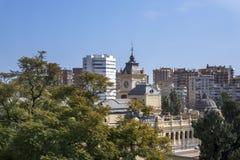 Malaga, Hiszpania, Luty 2019 Panorama Hiszpański miasto Malaga piękny widok alcazaba Almeria de fotografia stock