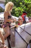 MALAGA HISZPANIA, SIERPIEŃ, -, 14: Jeźdzowie i frachty przy Malaga Obrazy Royalty Free