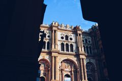 Malaga katedra Hiszpania Zdjęcie Stock