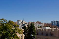 Malaga. Malaga landscape. Panoramic view. Malaga, Costa del Sol, Andalusia, Spain. Picture taken – 17 december 2017 Royalty Free Stock Image