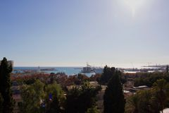 Malaga. Malaga landscape. Panoramic view. Malaga, Costa del Sol, Andalusia, Spain. Picture taken – 17 december 2017 Royalty Free Stock Photo