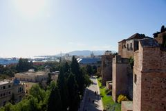 Malaga. Malaga landscape. Panoramic view. Malaga, Costa del Sol, Andalusia, Spain. Picture taken – 17 december 2017 Stock Images